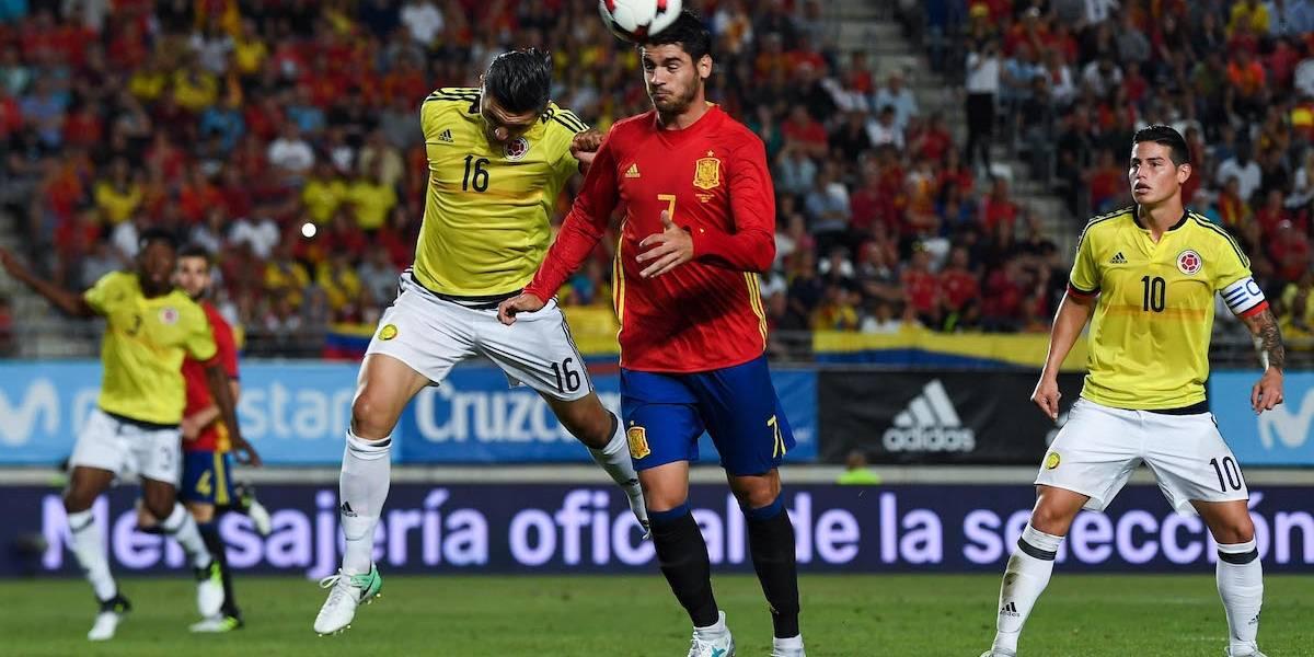 España no pasó del empate ante Colombia en duelo amistoso