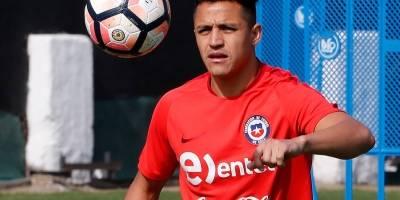 El solitario y extenuante entrenamiento de Sánchez en Juan Pinto Durán