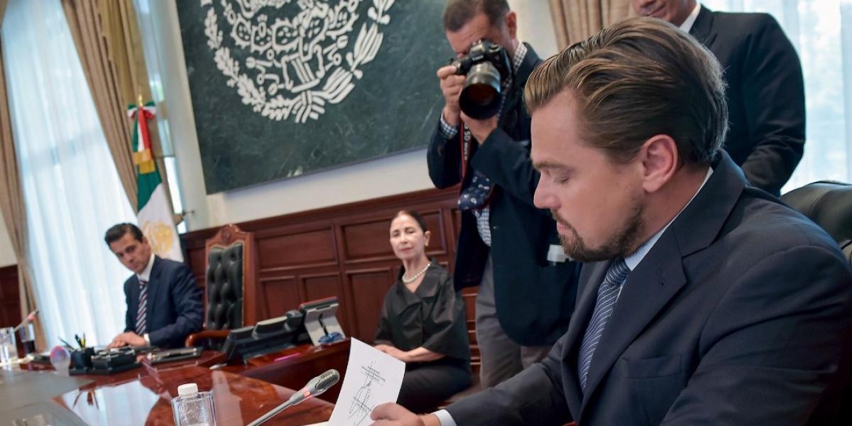 Peña Nieto, Slim y DiCaprio firman acuerdo para protección de la vaquita marina