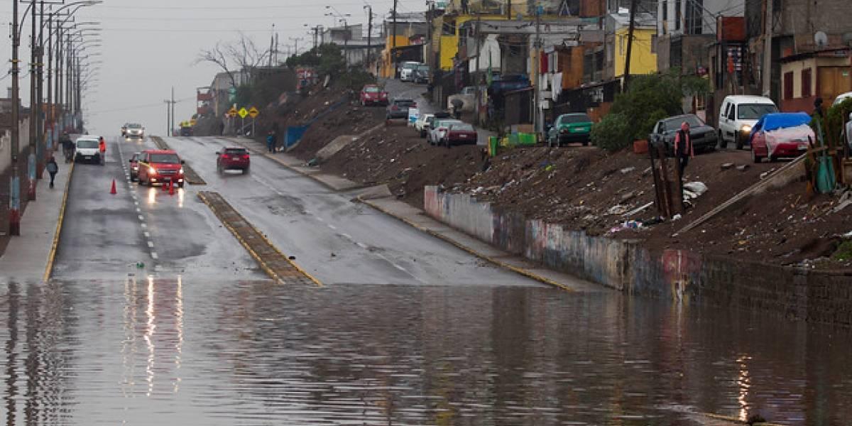Sistema frontal: 105 albergados en Antofagasta y sin clases hasta el viernes