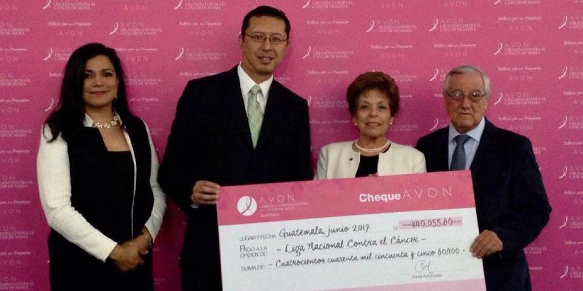 Liga Nacional Contra el Cáncer recibe donación de 60 mil dólares