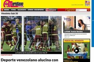 Reacción de la prensa venezolana