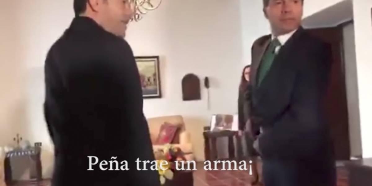 ¿Enrique Peña Nieto traía una pistola a reunión con Jimmy Morales?