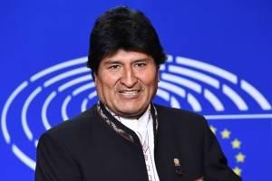Evo Morales en Bruselas
