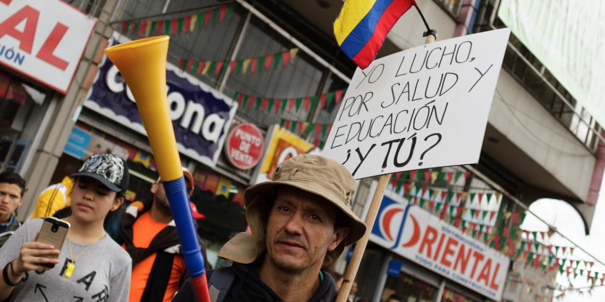 Los paros azotan a Colombia