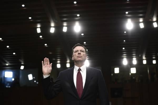 James Comey ante la comisión. AFP