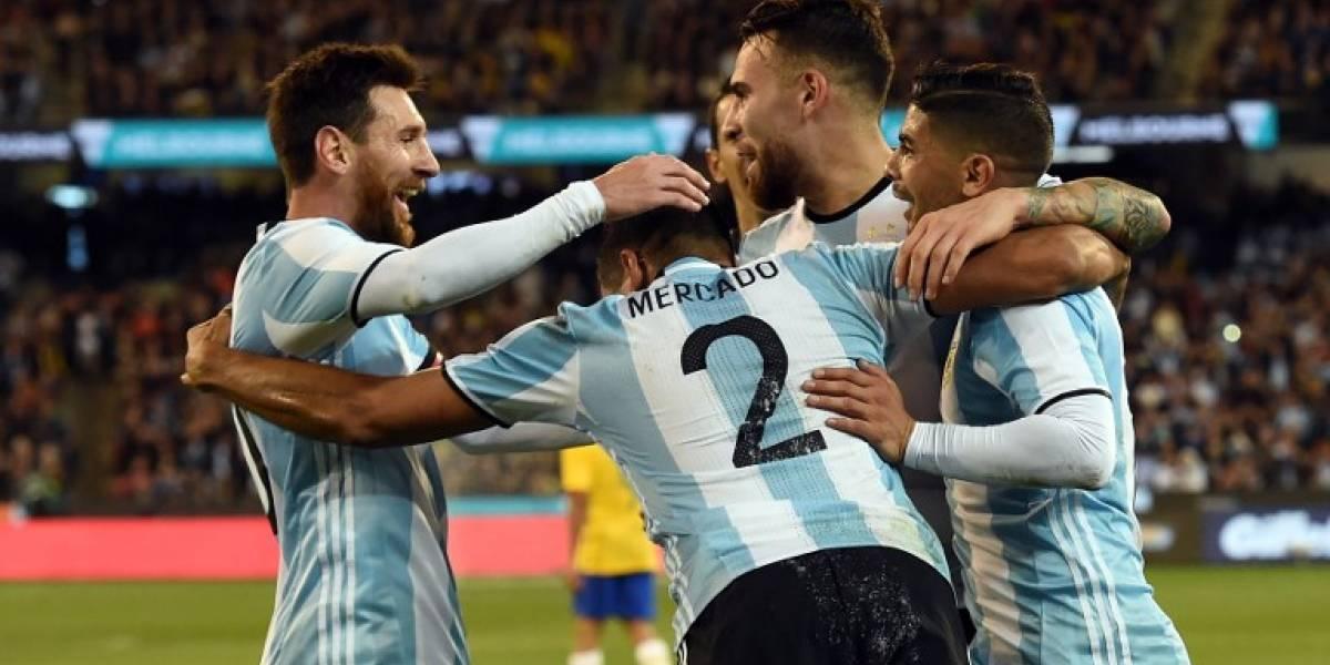 Argentina venció a Brasil en el debut de Jorge Sampaoli en la banca