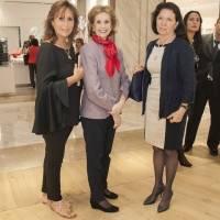 Chus Esquerra, Natalia Loaeza de Lebreton y Leticia García