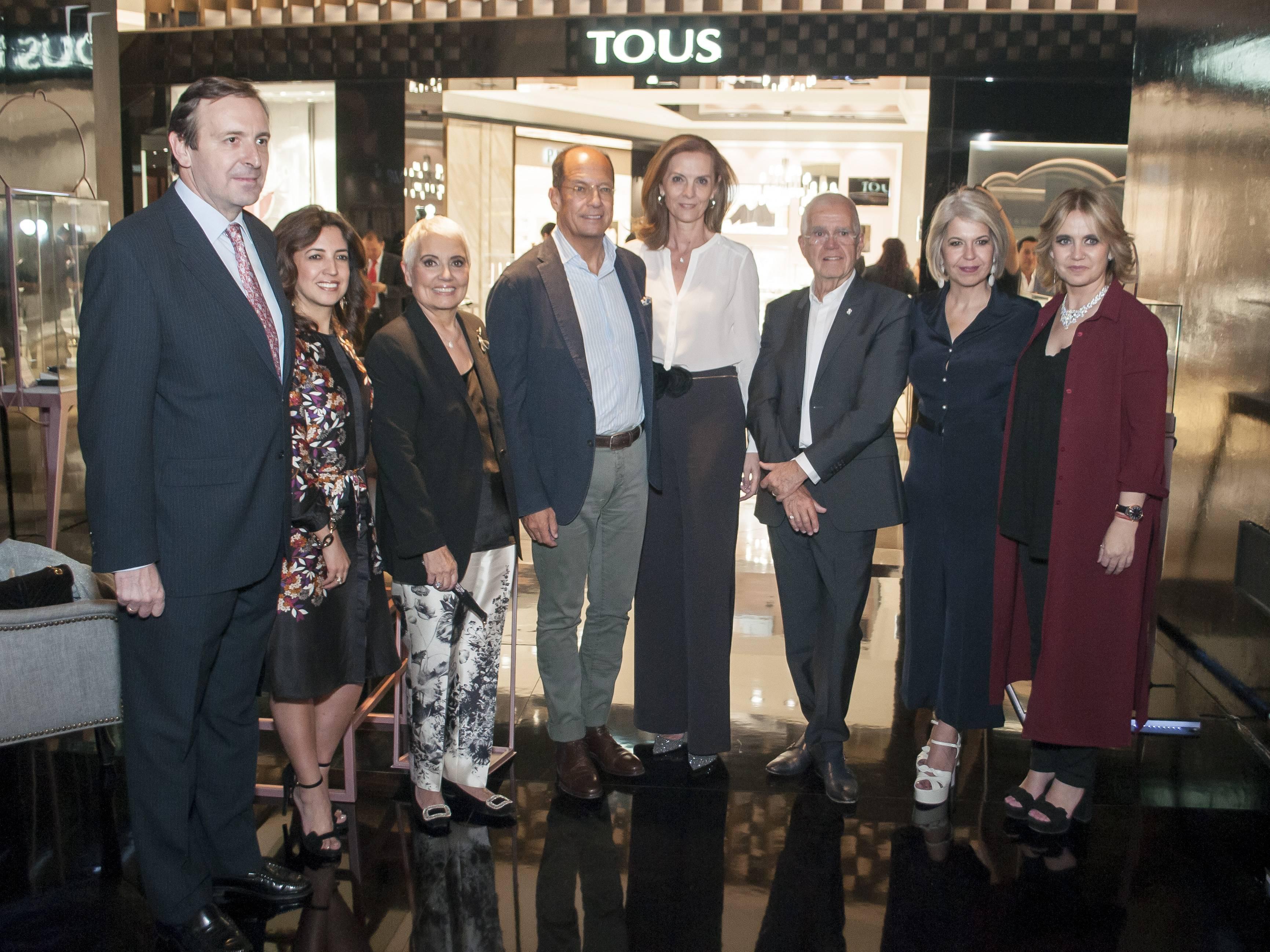 Luis Fernández, Claudia Fabel, Rosa Oriol, Juan Carlos Escribano, Ana López Ocaña, Salvador Tous , Alba Tous y Rosa Tous JDS