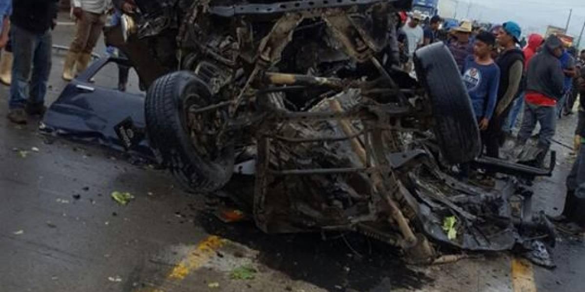 Cinco personas fallecen por accidente de tránsito en ruta Interamericana