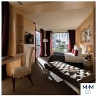 Las habitaciones son de lujo con una vista impresionante.