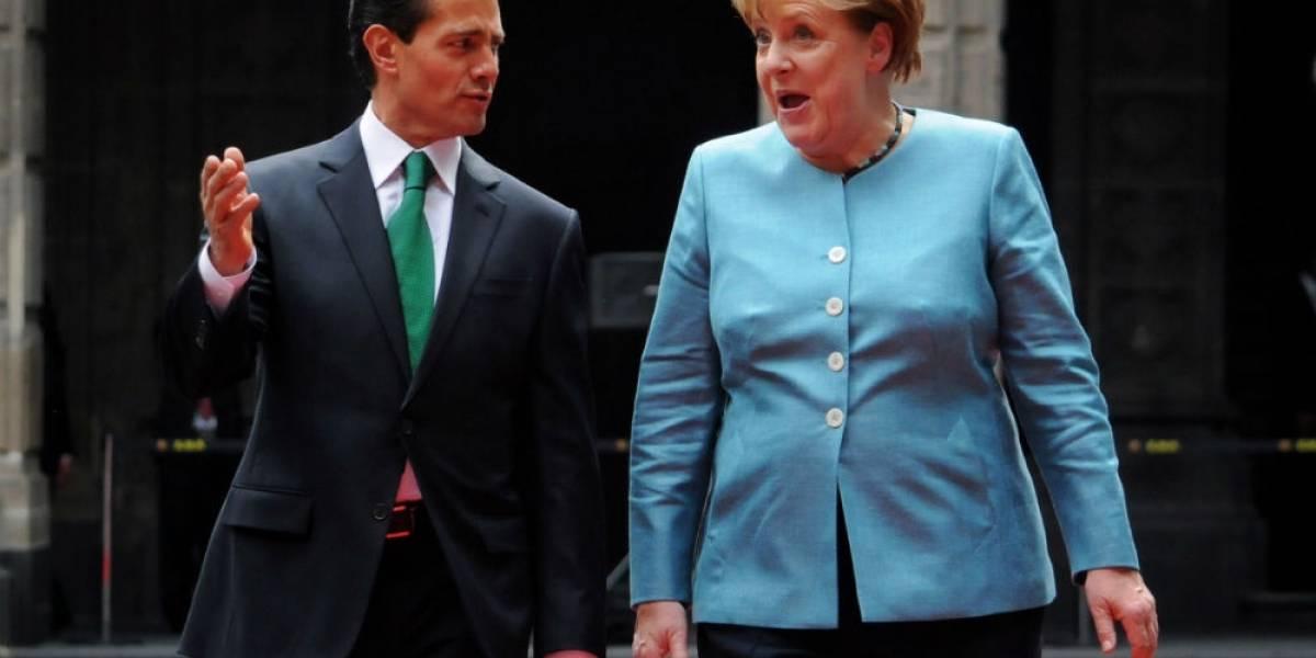 Peña Nieto y Angela Merkel sostienen reunión en Palacio Nacional