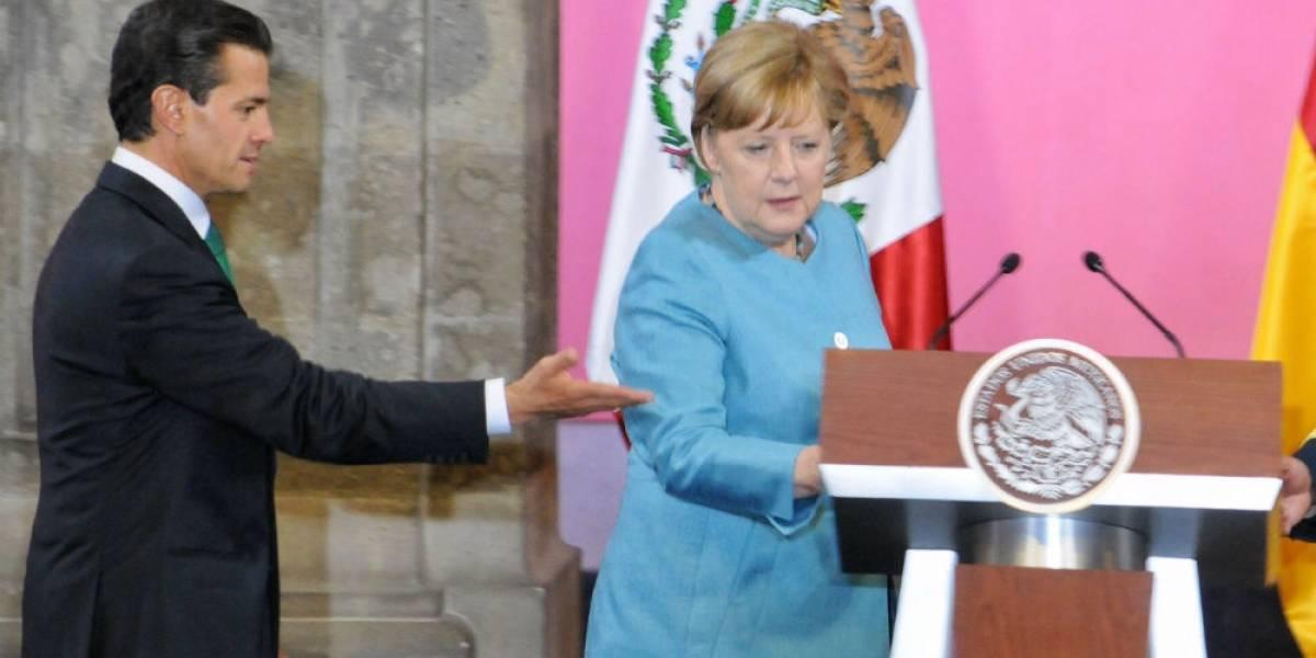 Derechos humanos y protección a periodistas, temas de reunión entre Peña y Merkel