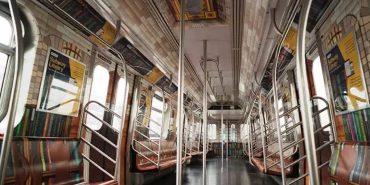 Convierten un tren del metro en biblioteca en Nueva York