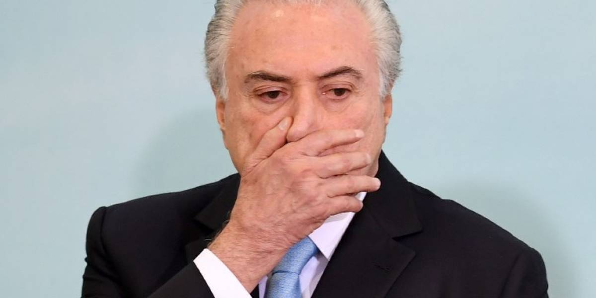 Justicia rechazó la propuesta de destituir a Temer de la presidencia de Brasil