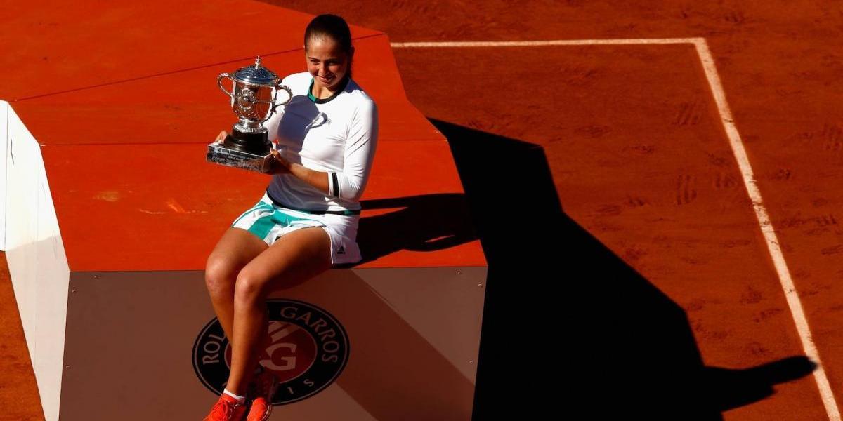 Jelena Ostapenko, nueva campeona en Roland Garros
