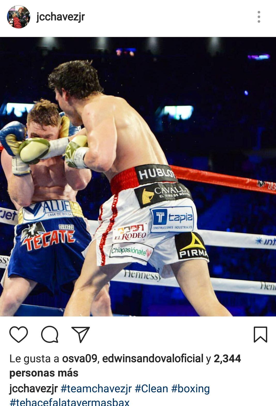 ESPECIAL INSTAGRAM Trollean a Chávez Jr. por fotos de la pelea ante 'Canelo'