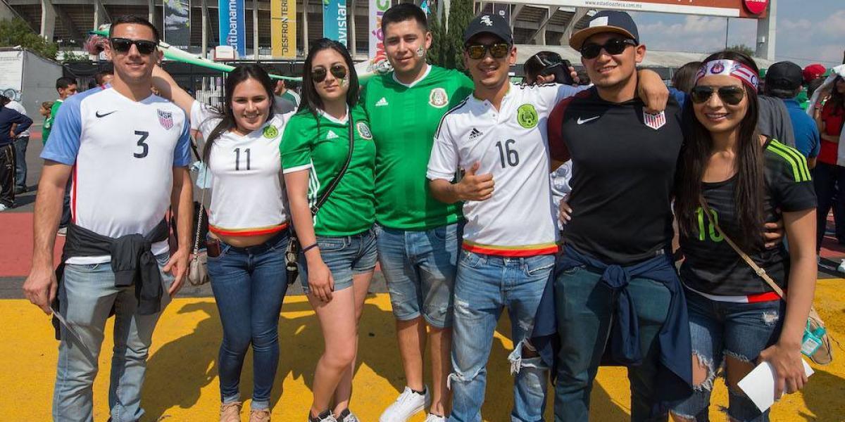 Afición mexicana y estadounidense se unen contra Trump