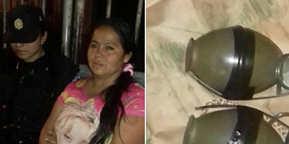 Mujer llevaba granadas escondidas en la mochila de una niña