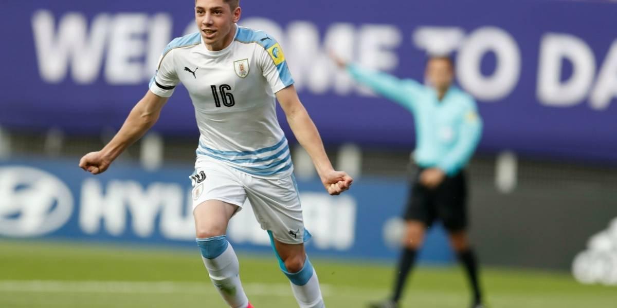 El uruguayo Federico Valverde ganó el Balón de Plata del Mundial Corea Sub'20