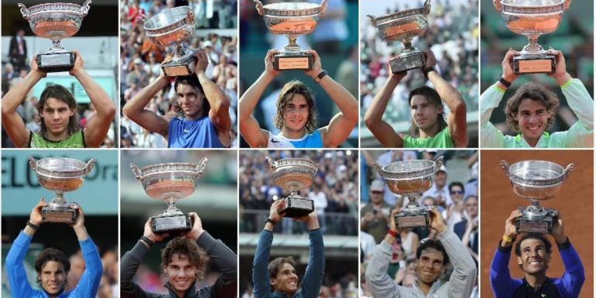 VIDEO. La historia de los diez títulos de Rafael Nadal en Roland Garros