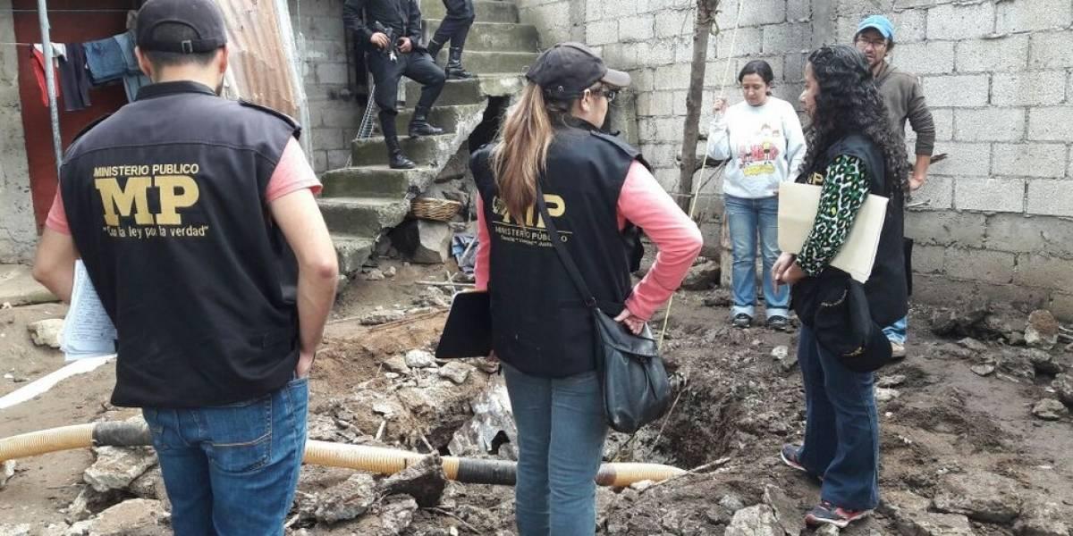 """MP hace excavaciones en operativo """"No más extorsión"""""""