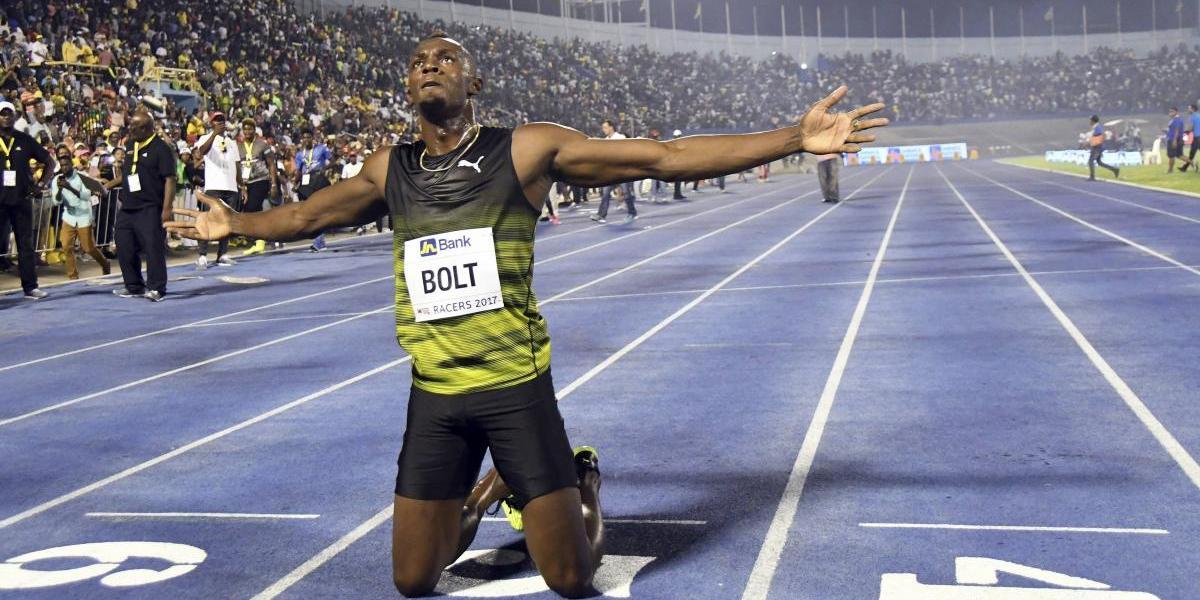 Usain Bolt gana en su última carrera en Jamaica