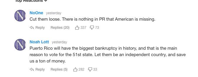 Insultos a Puerto Rico