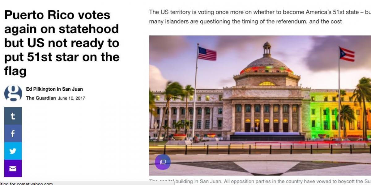 Insultos racistas a Puerto Rico ante votación a favor de la Estadidad