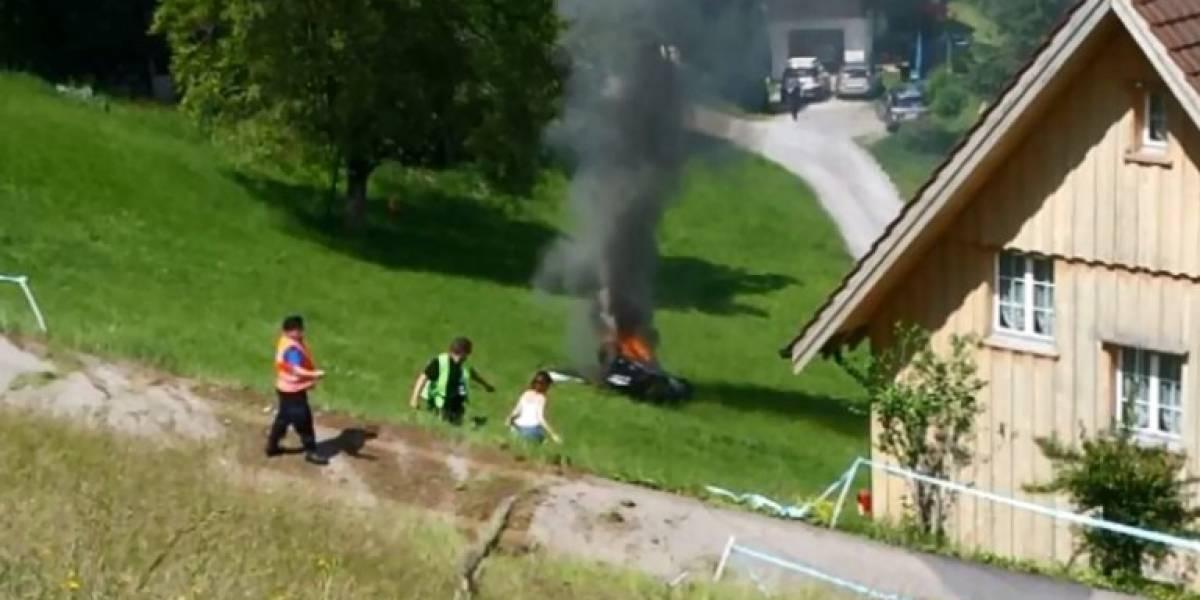Las estrellas también sufren: Así fue el accidente del exconductor de Top Gear en Suiza