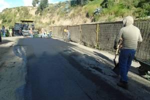 Sector de Milchichig, nuevamente asfaltado