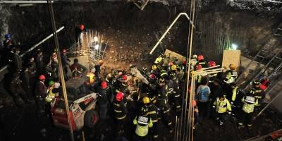 Derrumbe en obra en construcción en San Miguel deja cuatro personas heridas
