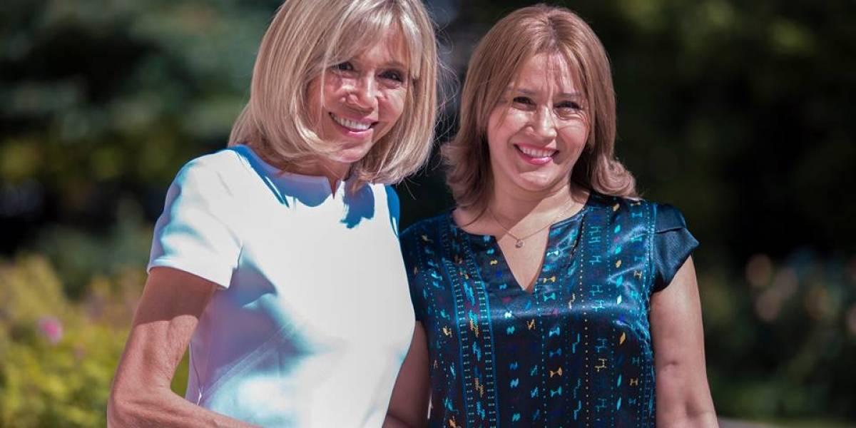 Así fue encuentro en Francia entre Patricia de Morales y Brigitte Macron