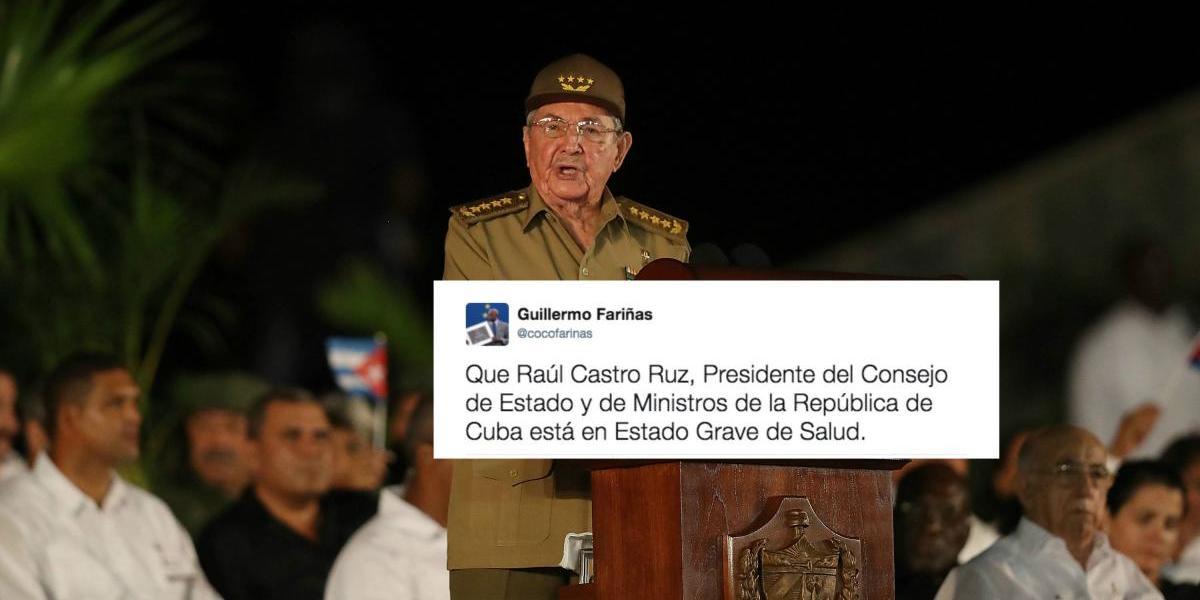 Disidente asegura que Raúl Castro está grave de salud