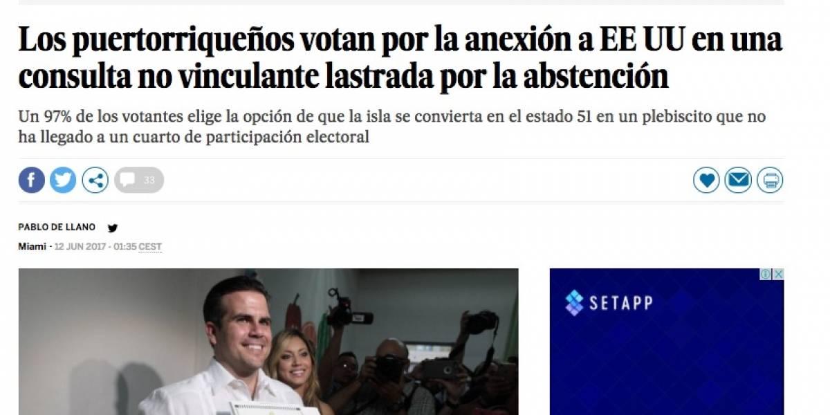 Así reseña la prensa internacional los resultados del plebiscito en Puerto Rico