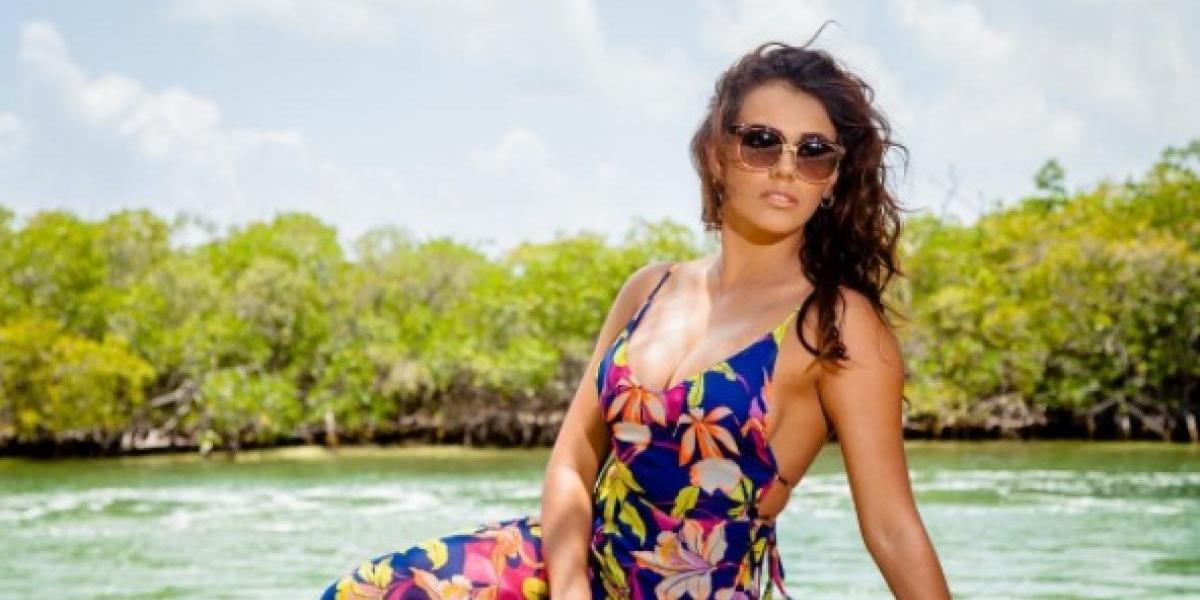 Virginia Argueta acapara la atención en un sugerente vestido con transparencias