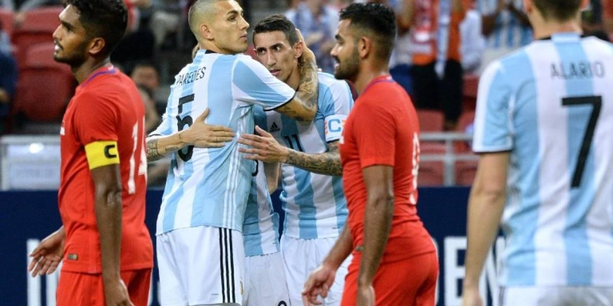 La Argentina mega ofensiva de Sampaoli se aprovechó de la débil Singapur