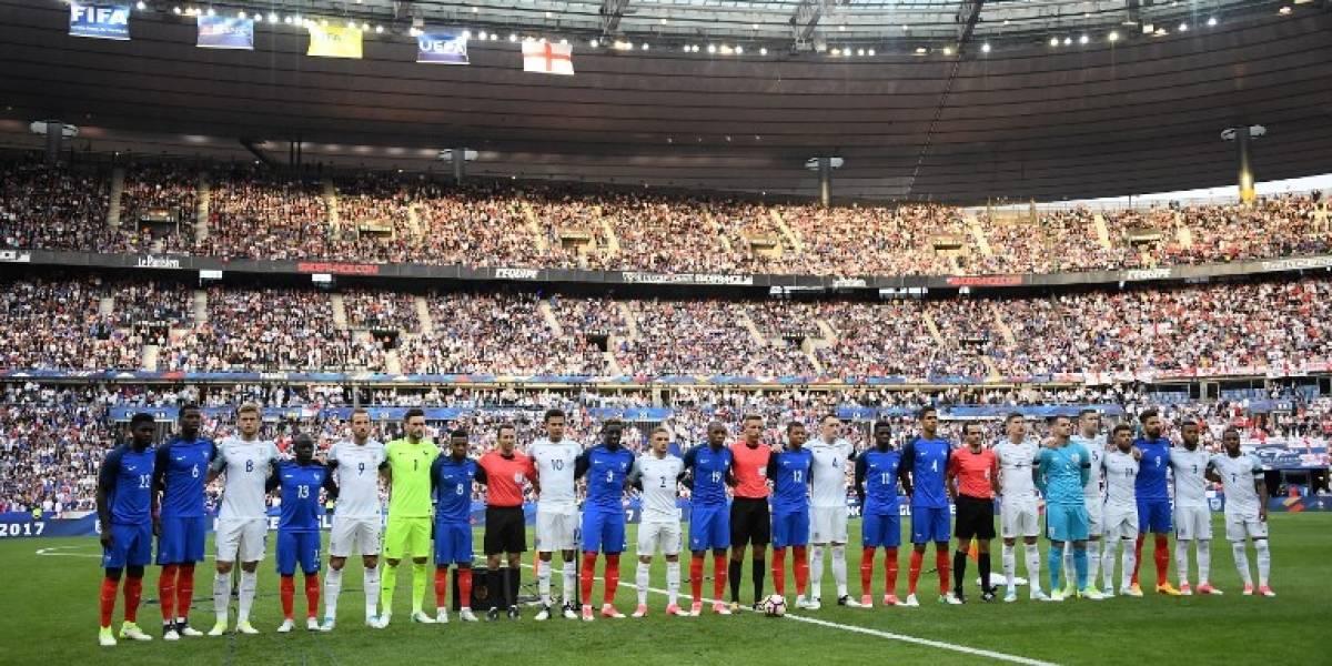 Francia derrotó a Inglaterra en amistoso marcado por homenaje a víctimas de atentado