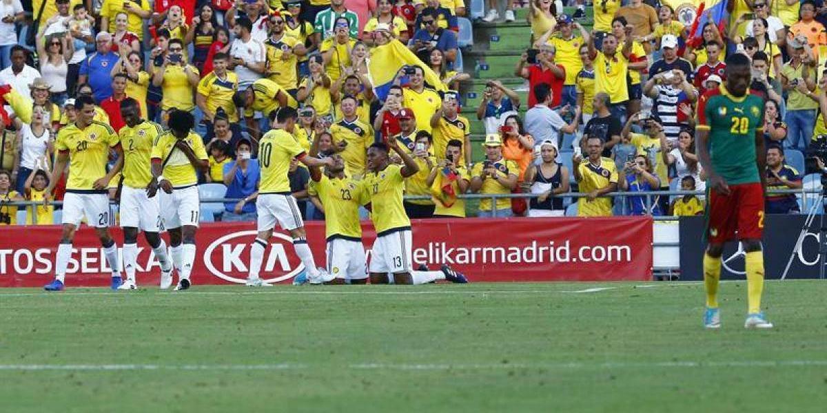 Camerún perdió por goleada ante Colombia en el último amistoso previo a enfrentar a Chile
