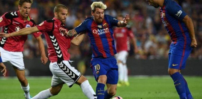 Lionel Messi no jugó con el Barcelona