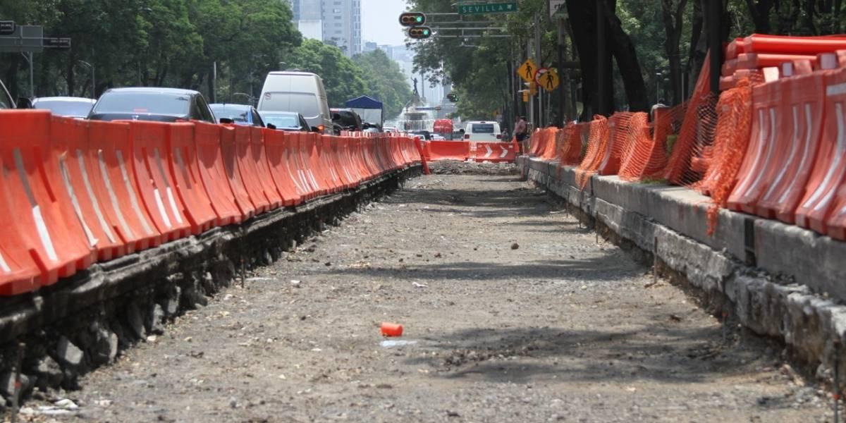 INAH sólo autorizó obras de pavimentación para Metrobús en Reforma