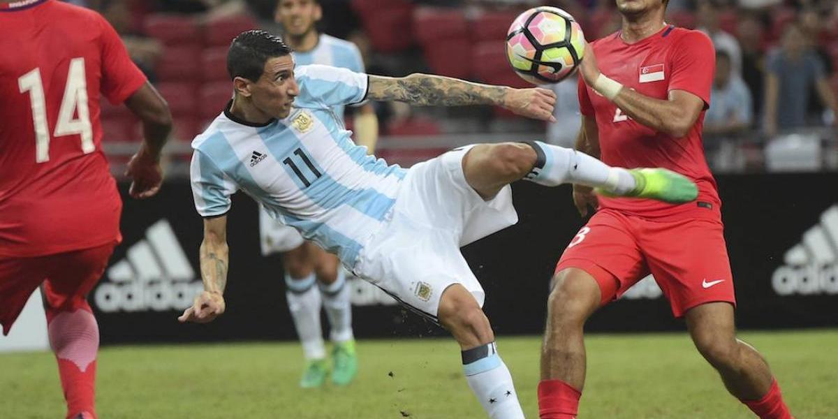 VIDEO: El golazo con el que Di María selló la goleada de Argentina ante Singapur
