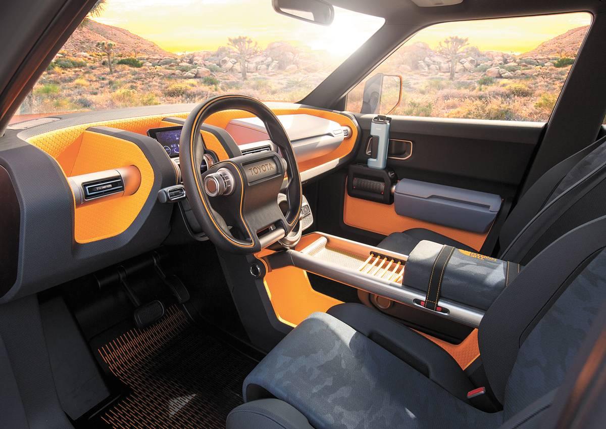 Cabine tem compartimentos coloridos | Divulgação