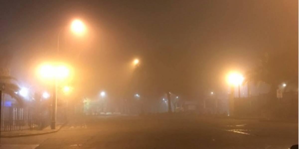 """Silent Hill"": así se vivió la niebla matinal que sorprendió en la fría mañana de Santiago"