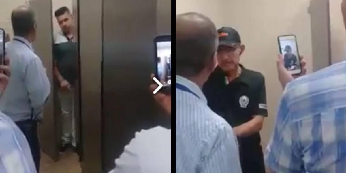 #Video: Encuentran a pareja de hombres teniendo sexo en un centro comercial