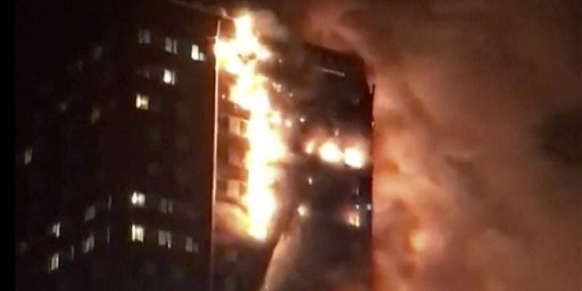 Aumenta la cifra de víctimas fatales en incendio de Londres