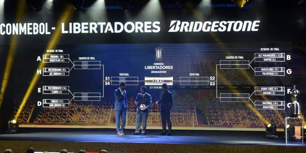 Así se jugarán los octavos de final de la Copa Libertadores