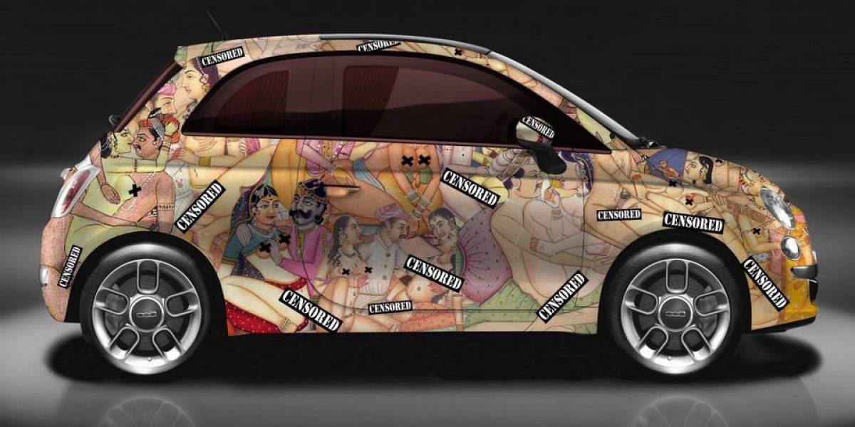 """""""Kar_masutra"""": el diseño hot de un Fiat 500"""