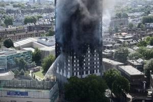 Incendio en la torre Grenfell Tower de 27 pisos