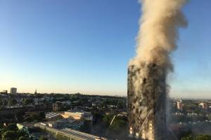 Incendio en edificio de Londres